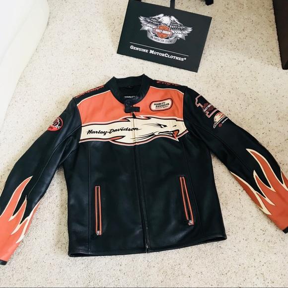 Harley Davidson Screaming Eagle Men/'s Motorcycle Motorbike Leather Jacket